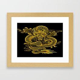 Epic Dragon Yellow Framed Art Print