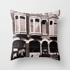 Victorian Street Throw Pillow