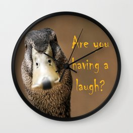 A funny duck Wall Clock