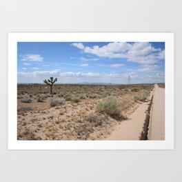Long Desert Highway Art Print