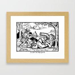Werewolf Hunting medieval style Framed Art Print