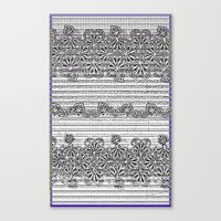 newspaper Canvas Prints featuring Newspaper Stripe by Vikki Salmela