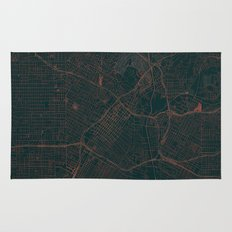 Los Angeles Map Red Rug