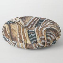 A Maori Carving Floor Pillow