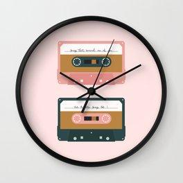 Romantic Cassettes Wall Clock