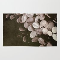 hydrangea Area & Throw Rugs featuring hydrangea by inourgardentoo