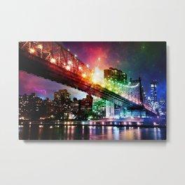 Enchanted New York : Manhattan Bridge Metal Print
