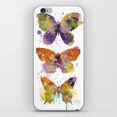 3 farfalle iPhone & iPod Skin