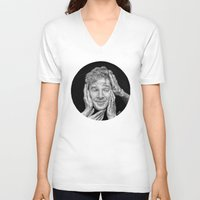 benedict cumberbatch V-neck T-shirts featuring Benedict Cumberbatch  by Cécile Pellerin