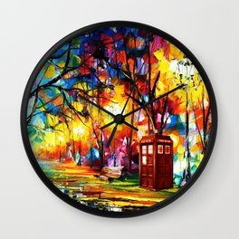 Tardis Dr Who Wall Clock