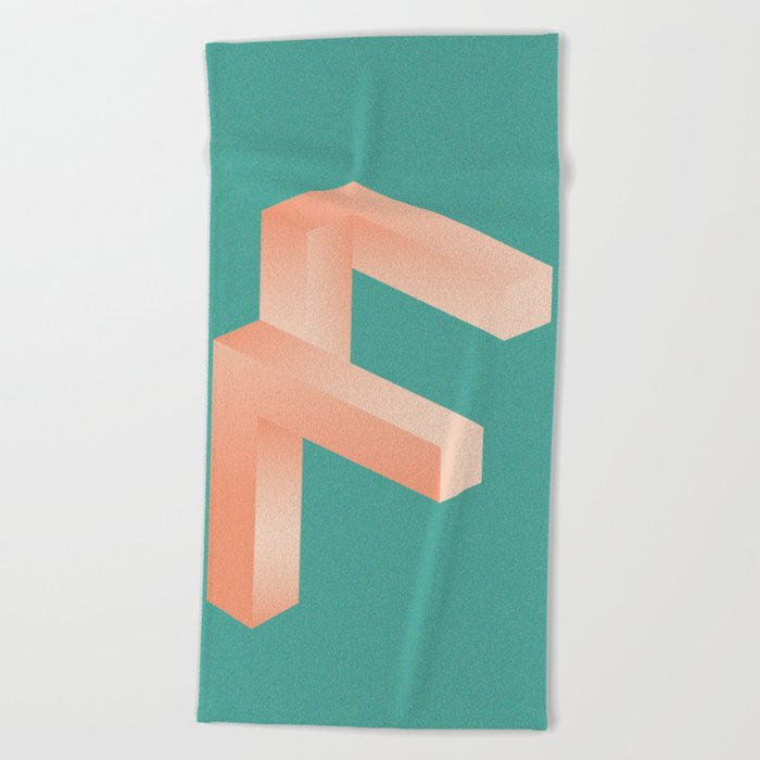 Futuristic F Beach Towel