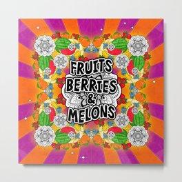 Fruits, Berries, & Melons Metal Print