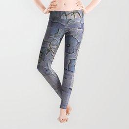 Plaid Tartan & Morning Glories Leggings