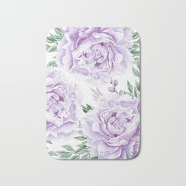 Pretty Purple Flower Garden Bath Mat