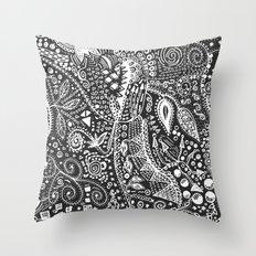 Aztec B&W (Handmade) Throw Pillow