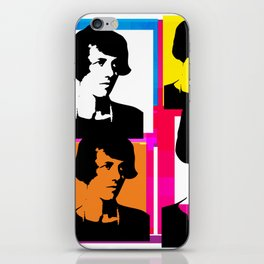 YOUNG ENID BLYTON, ENGLISH CHILDRENS NOVELIST, POP ART STYLE COLLAGE iPhone Skin