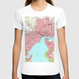 Vintage Map of Jacksonville Florida (1950) T-shirt