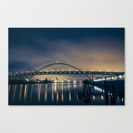 Fremont Bridge at Night Canvas Print