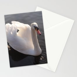 Swan in Hyde Park Stationery Cards