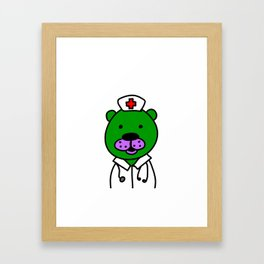 The Bear that Cares Framed Art Print