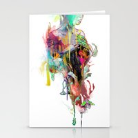 archan nair Stationery Cards featuring Far Away by Archan Nair