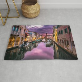 Venice Canal at Sunset Rug