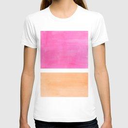 Colorful Bright Minimalist Rothko Pastel Pink Peach Midcentury Modern Art Vintage Pop Art T-shirt