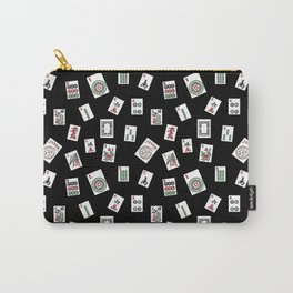 Black Mahjong Carry-All Pouch