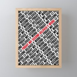 Friday my 2nd beloved f word Pattern Framed Mini Art Print