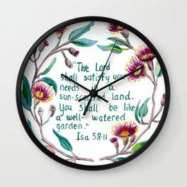 Isaiah 58:11 Wall Clock