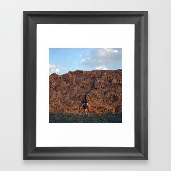 heyloft sunset Framed Art Print