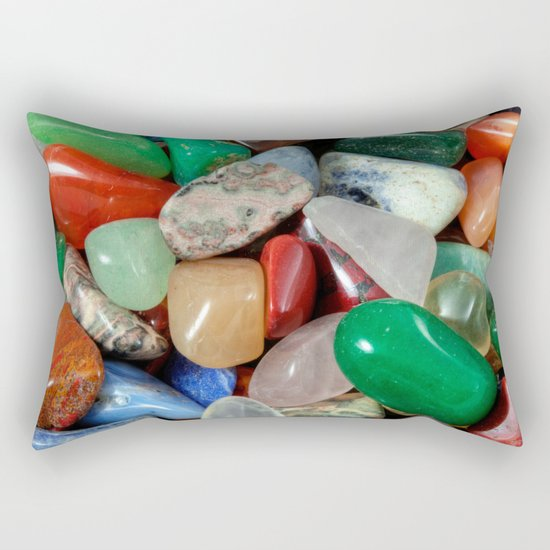 Colorful Stones Texture Rectangular Pillow