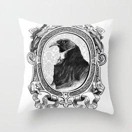 Old Black Crow Throw Pillow