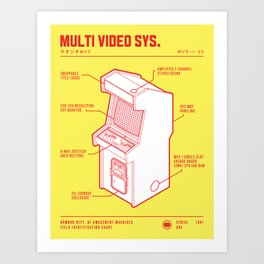 ARCADE CAB - NEO GEO MVS Art Print