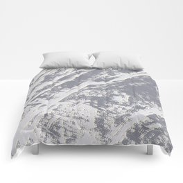 shades of gray marble effect Comforters