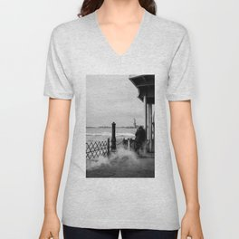Liberty from the back of The Boat Unisex V-Neck