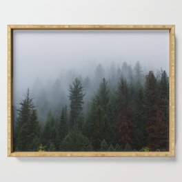 Into the Deep, Foggy, Forest Serving Tray