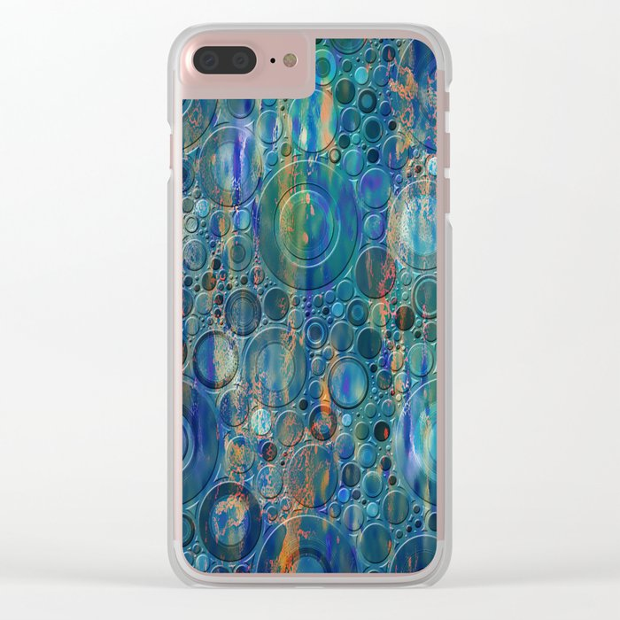 Autumn Rain Clear iPhone Case
