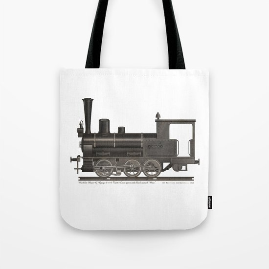 Locomotive Black Max Tote Bag