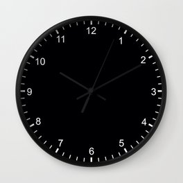 Simply Night Black - Mix and Match with Simplicity of Life Wall Clock