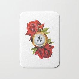 Traditional Rose & Compass Bath Mat