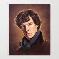 benedict cumberbatch Canvas Prints featuring Benedict Cumberbatch by Svenja Gosen
