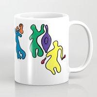 jazz Mugs featuring Jazz by Shelly Lukas Art