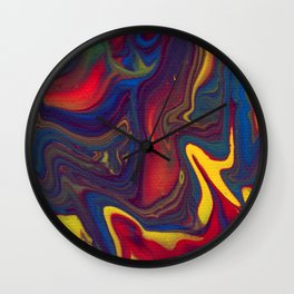 Paint Pouring 21 Wall Clock