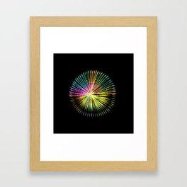 ...a simple kind of abstract mandala Framed Art Print