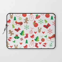 Happy New Year and Christmas Symbols Decoration Laptop Sleeve