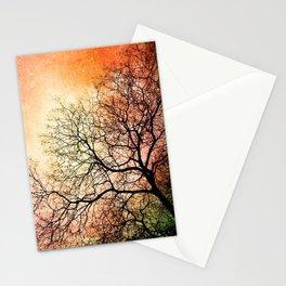 Tree w/ Burning Sky Stationery Cards