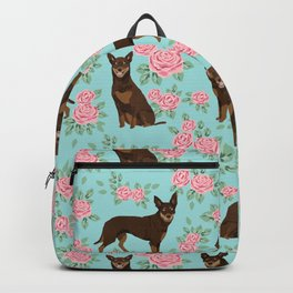 Kelpie florals dog breed cute gifts pattern dog lover pet portraits pet friendly designs Backpack