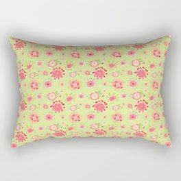 boho floral love Rectangular Pillow