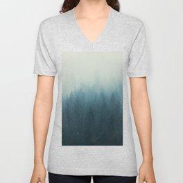 Into The Misty Nature - Turquoise II Unisex V-Neck